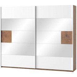 Šatní skříň 2-dveřová LIVORNO 73 dub wotan/bílá