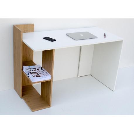 Pracovní stůl SHELF sonoma/bílá