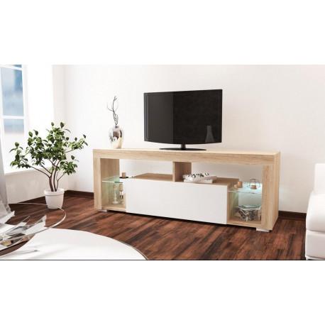 **Televizní stolek VEGAS sonoma/bílý lesk