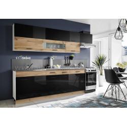 Kuchyně KORAL 280 wotan/černý lesk