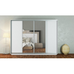 Šatní skříň GAMMA 300 bílá