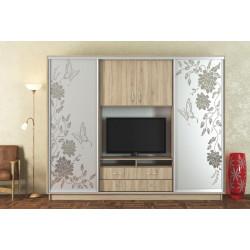 Šatní skříň/TV stěna UNIVERSAL 270 sonoma/CT-2