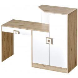 Pracovní stůl s komodou NIKO 11 dub jasný/bílá