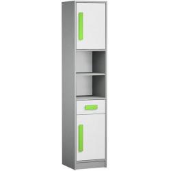 Skříňka GYT 4 antracit/bílá/zelená
