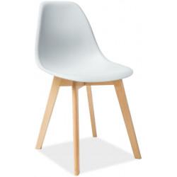 Jídelní židle MORIS světle šedá/buk