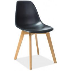 Jídelní židle MORIS černá/buk