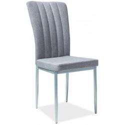 Jídelní čalouněná židle H-733 šedá/bílá