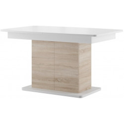 Jídelní stůl rozkládací STAR 03 dub sonoma/bílá