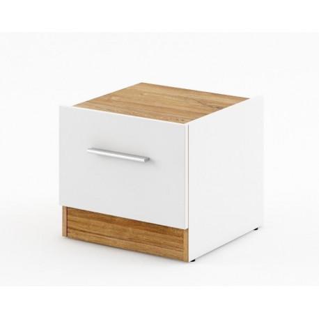 Noční stolek DENTRO DT-03 bílá/dub stirling pravý