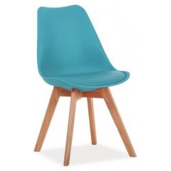 Jídelní židle KRIS modrá/buk