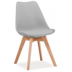 Jídelní židle KRIS světle šedá/buk