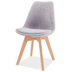Jídelní židle DIOR buk/světle šedá