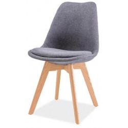Jídelní židle DIOR buk/tmavě šedá