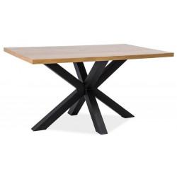 Jídelní stůl CROSS dřevo masiv/kov 150x90