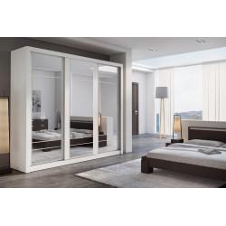 Šatní skříň 02 ARTI 250 bílá zrcadlo