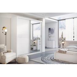 Šatní skříň IDEA 12 203 zrcadlo bílá