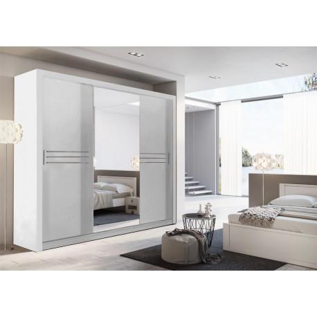 Šatní skříň IDEA 11 250 zrcadlo bílá