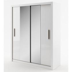 Šatní skříň IDEA 03 bílá zrcadlo 180 cm