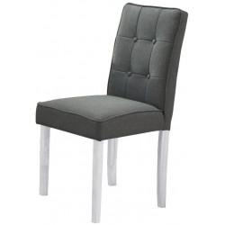 Jídelní čalouněná židle MALTES šedá/bílá