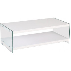 *Konferenční stolek BIBIONE-771 bílá/sklo
