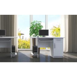 Pracovní stůl VIBER 1D1S bílá pravý