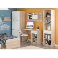 Sestava dětského pokoje TIPS dub sonoma/bílá mat