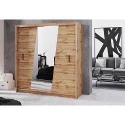 Šatní skříň VENECIA 203 dub wotan/zrcadlo