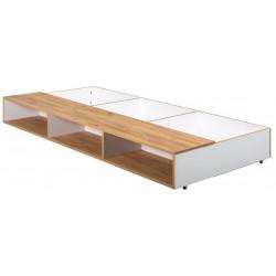 Zásuvka pod postel WOODY bílá/dub kraft zlatý