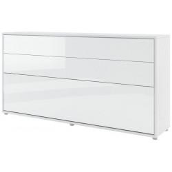 Výklopná postel 90 REBECCA bílá lesk/bílá mat