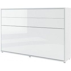 Výklopná postel 120 REBECCA bílá lesk/bílá mat