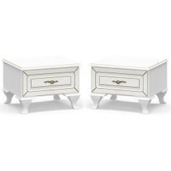 Noční stolek 2 ks MILAN bílý mat
