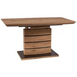 Jídelní stůl rozkládací LEONARDO 160x90 dub/černá