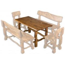 OM-101 zahradní stůl brunat