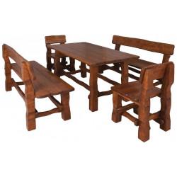 OM-101 zahradní sestava (1x stůl + 2x lavice + 2x židle) výběr barev