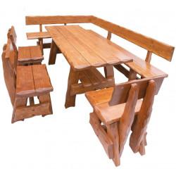 OM-264 zahradní sestava (1x stůl + 1x lavice roh + 3x židle) výběr barev
