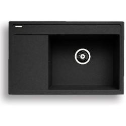Pyragranitový dřez CAMEA 1B 1D RH (79x50) black