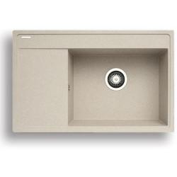 Pyragranitový dřez CAMEA 1B 1D RH (79x50) beige