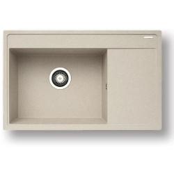 Pyragranitový dřez CAMEA 1B 1D LH (79x50) beige