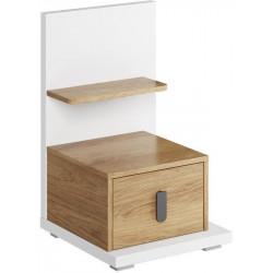 Noční stolek pravý SOMAS 08P 1S bílá/ořech natural