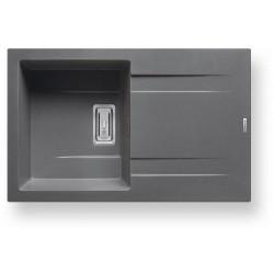 Pyragranitový dřez KARTESIO 1B 1D (79x50) iron grey