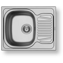 Nerezový dřez vestavný SPARTA 1B 1D, satin