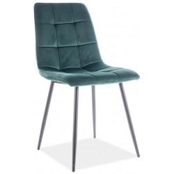 Jídelní čalouněná židle MILA velvet zelená/černá