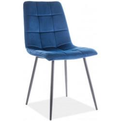 Jídelní čalouněná židle MILA velvet granátově modrá/černá